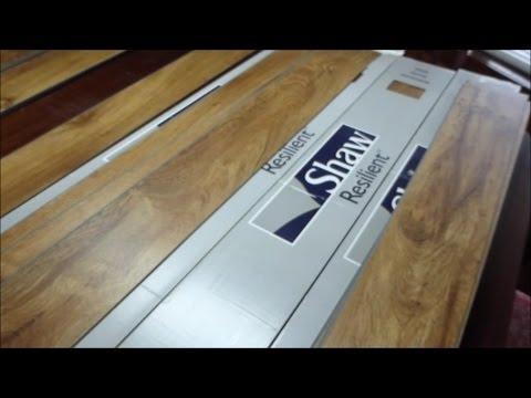 Installation & Review Of Shaw Vinyl Floor Tile.