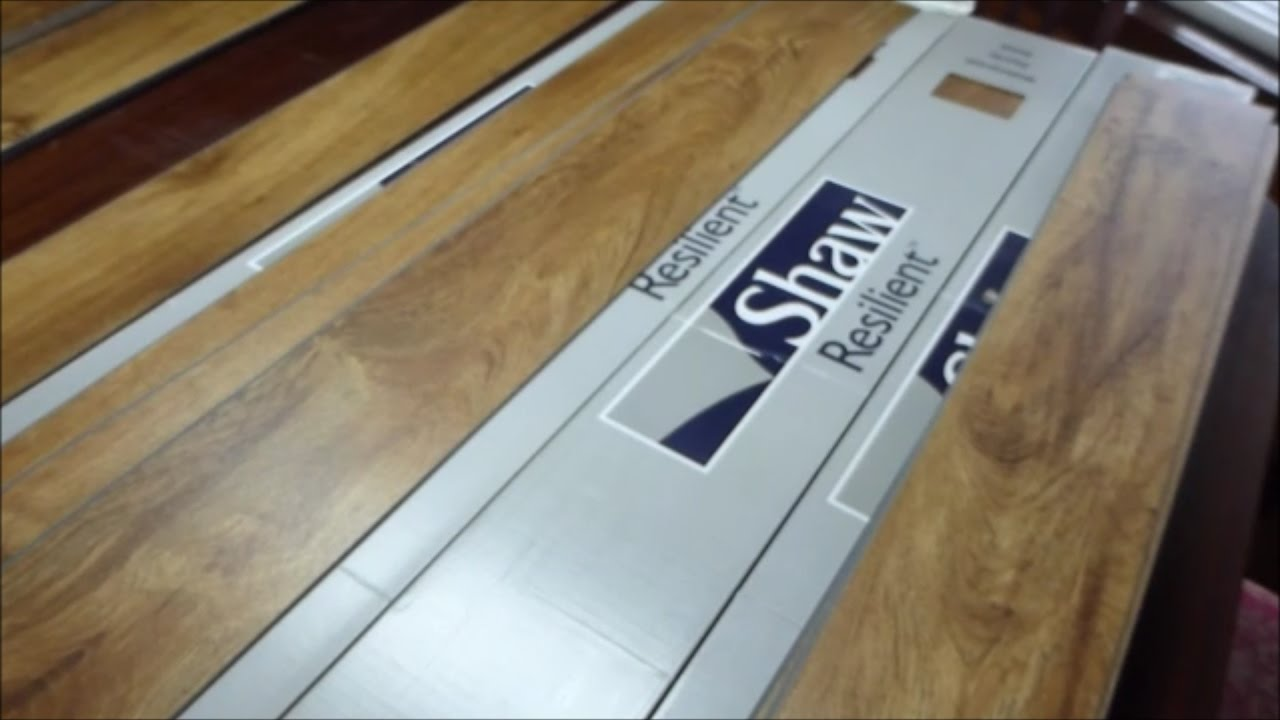 Installation & review of Shaw vinyl floor tile. - YouTube