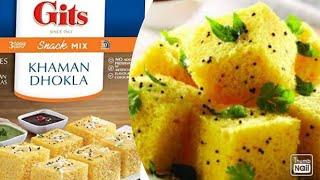 Gits Khaman Dhokla Recipe | Instant Khaman Dhokla Recipe | How to make Gits instant Khaman Dhokla