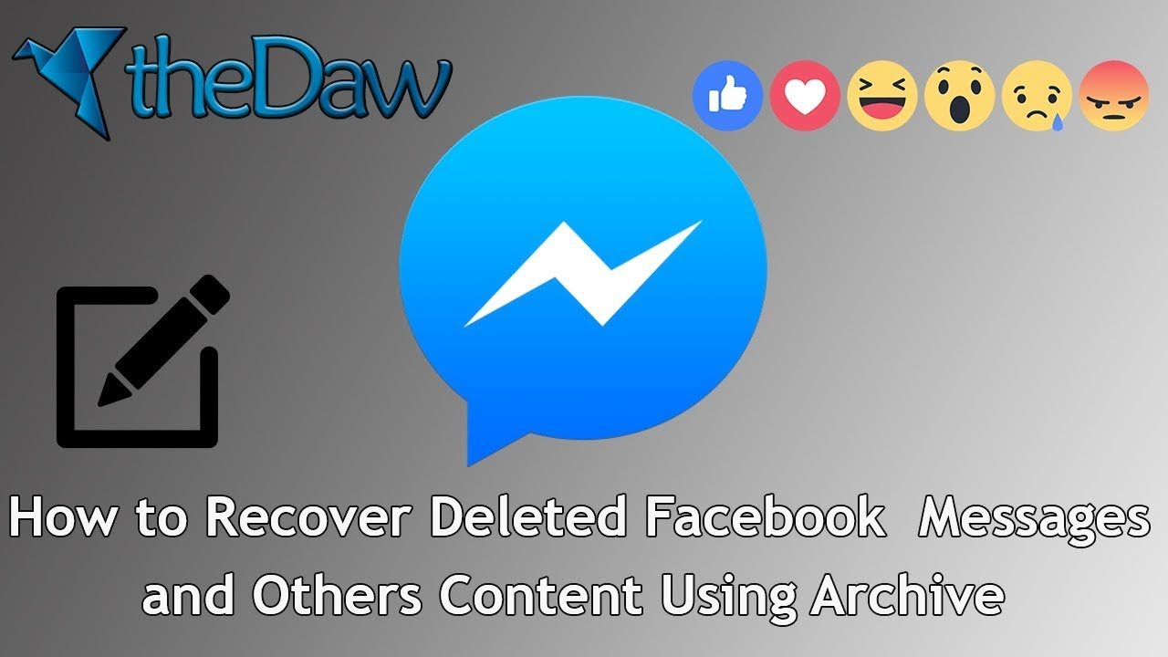 How to Recover Facebook Deleted Messages and Others Content | Facebook Tips | theDaw