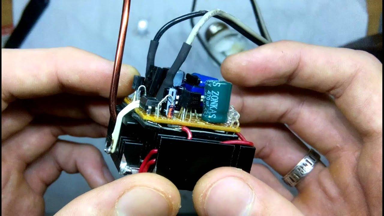 схема питания светодиода из зарядки мобильника