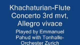 Khachaturian-Flute Concerto 3rd mvt, Allegro vivace, pahud