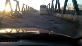 Мост через реку Северский Донец в городе Изюм