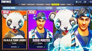"NEW ""Panda Team Leader + Sushi Master"" SKINS in Fortnite! - NEW Fortnite UPDATE (Fortnite Gameplay)"