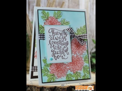 Painted Autumn  Two Step Stamping W/ Sponging