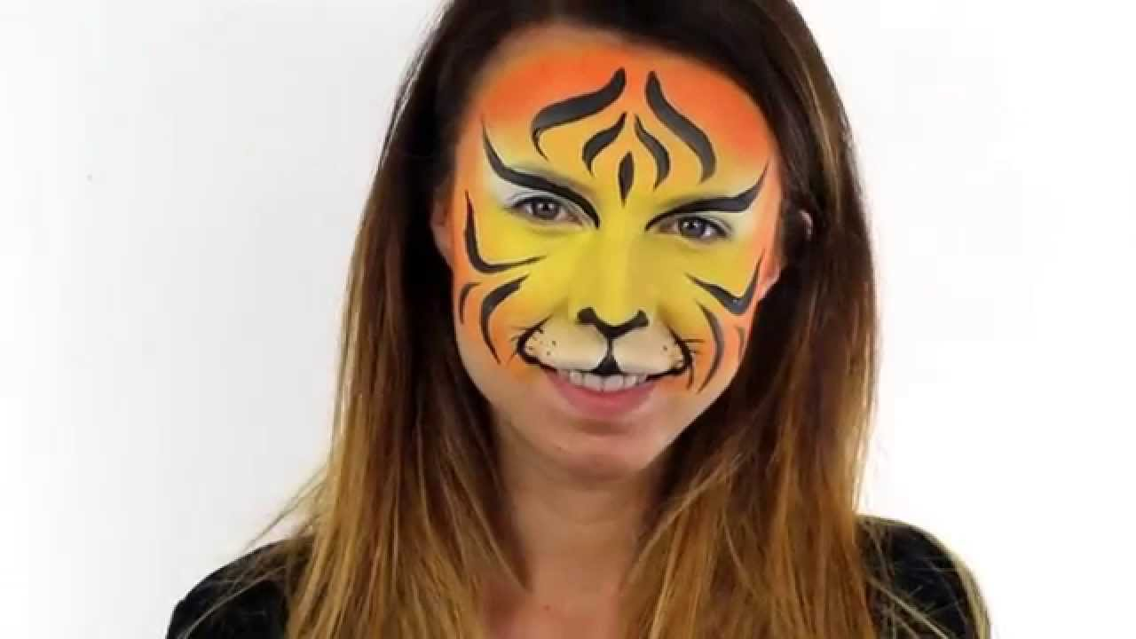 Easy Tiger Face Painting Designs