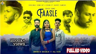 Fassle : (Cover Song) Amninder Dosanjh  Gill Saab Latest Sad Song Original G Khan Garry Sandhu 2020