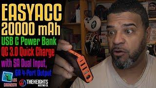 EasyAcc 20000mAh Portable MegaCharger PoweBank 🔌 : LGTV Review
