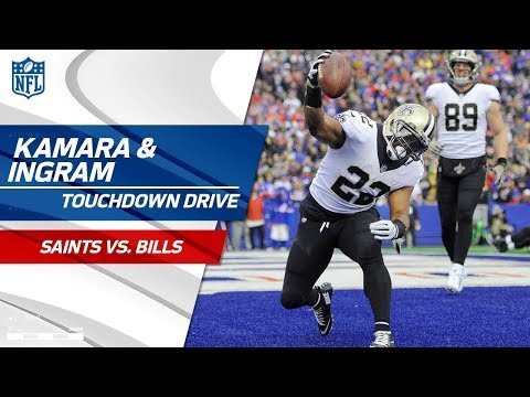 Mark Ingram & Alvin Kamara Carry Saints Downfield for Big TD! | Saints vs. Bills | NFL Wk 10
