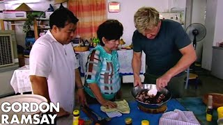 Gordon Ramsay Helps Prepare Food For A Malaysian Dinner Party | Gordon's Great Escape