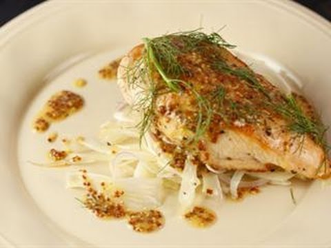 Graham Elliot's Roasted Organic Chicken with FennelRed Onion Salad & Whole Grain Mustard Vinaigr...