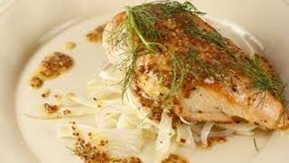 Graham Elliot's Roasted Organic Chicken with Fennel-Red Onion Salad & Whole Grain Mustard Vinaigr...
