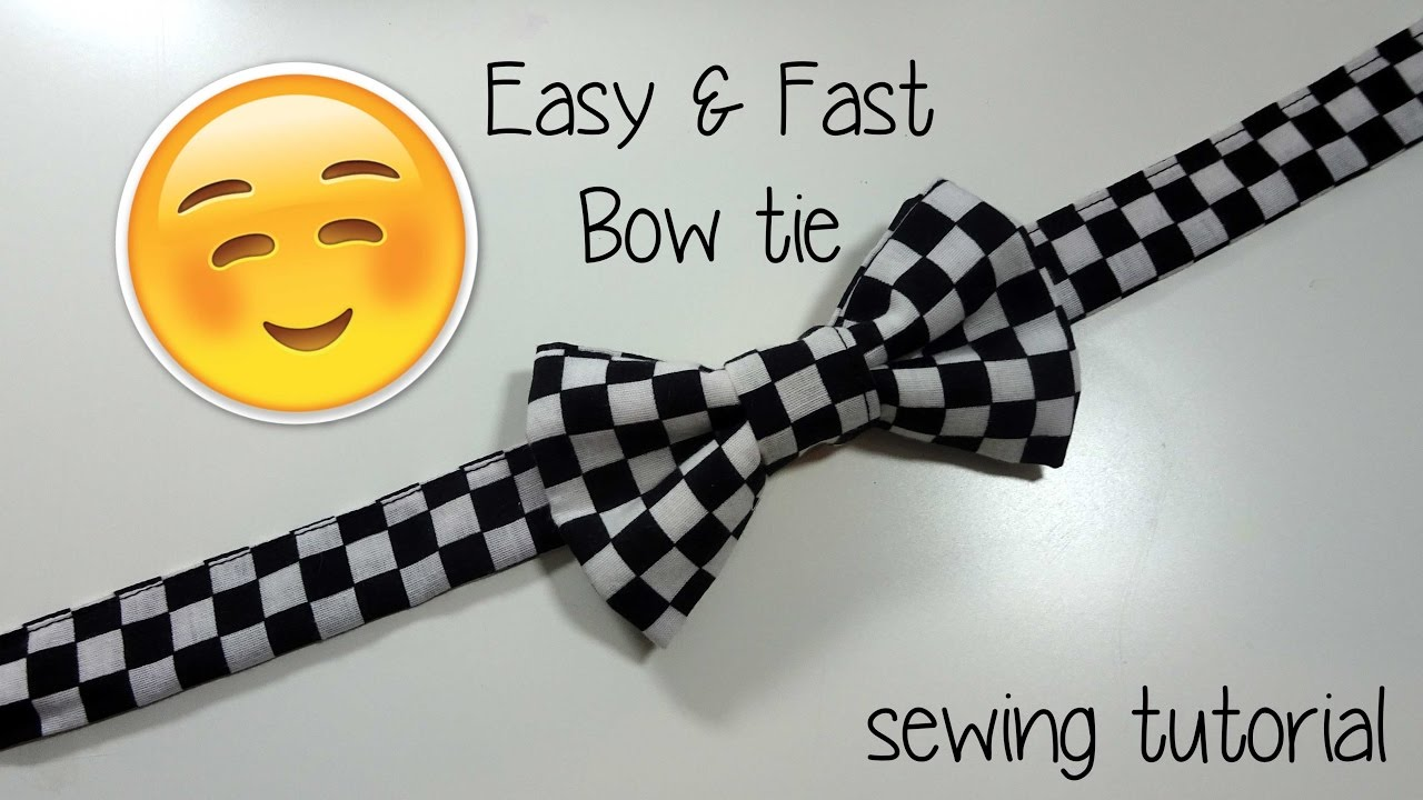 Bow Tie Sewing Pattern Best Design