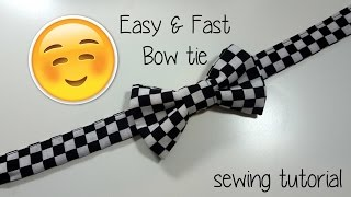 Sewing Tutorial - Fast Easy Bow tie