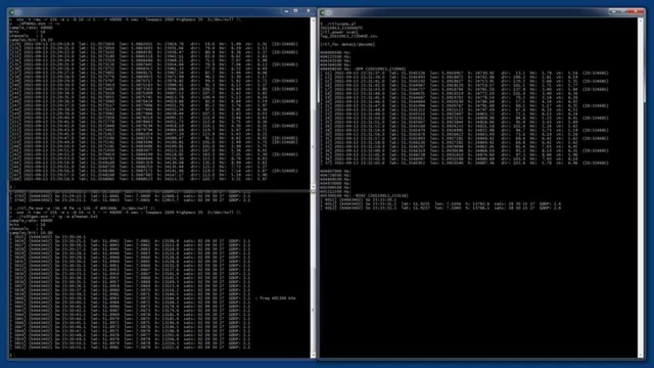 radiosonde: scan, detect, decode (win)
