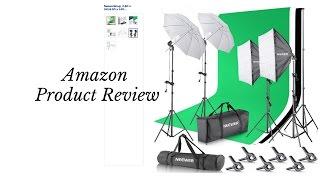 Neewer lighting kit studio from amazon review!!
