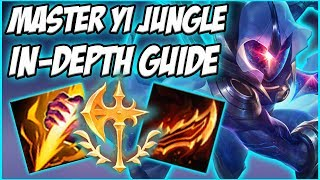 GUIDE ON HOW TO PLAY MASTER YI JUNGLE IN SEASON 8! INSANELY STRONG 1V9 CHAMPION  - League of Legends