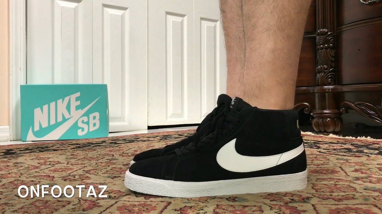 separation shoes f999d 53c0b Nike SB Zoom Blazer Mid Black White On Foot