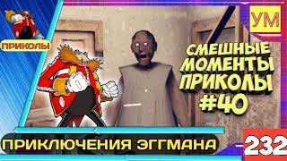 Granny - Смешные моменты приколы #40 - Приключения ЭГГМАНА - ПЛАН ЗАХВАТА СОНИКА И ТЁТИ ЗИНЫ!