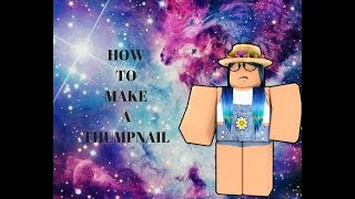 How To Make A Roblox Thumbnail For   On A Ipad Or A Ios Device
