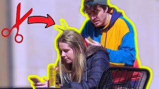 Cutting Girls Hair Prank 2
