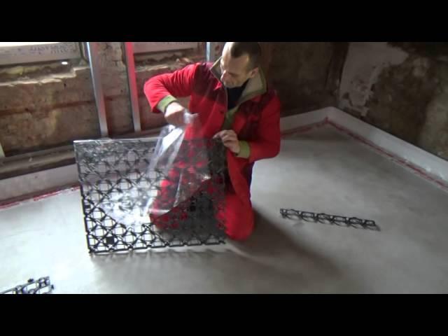 Podlahové vykurovanie systém SPIDER GIACOMINI - realizácia