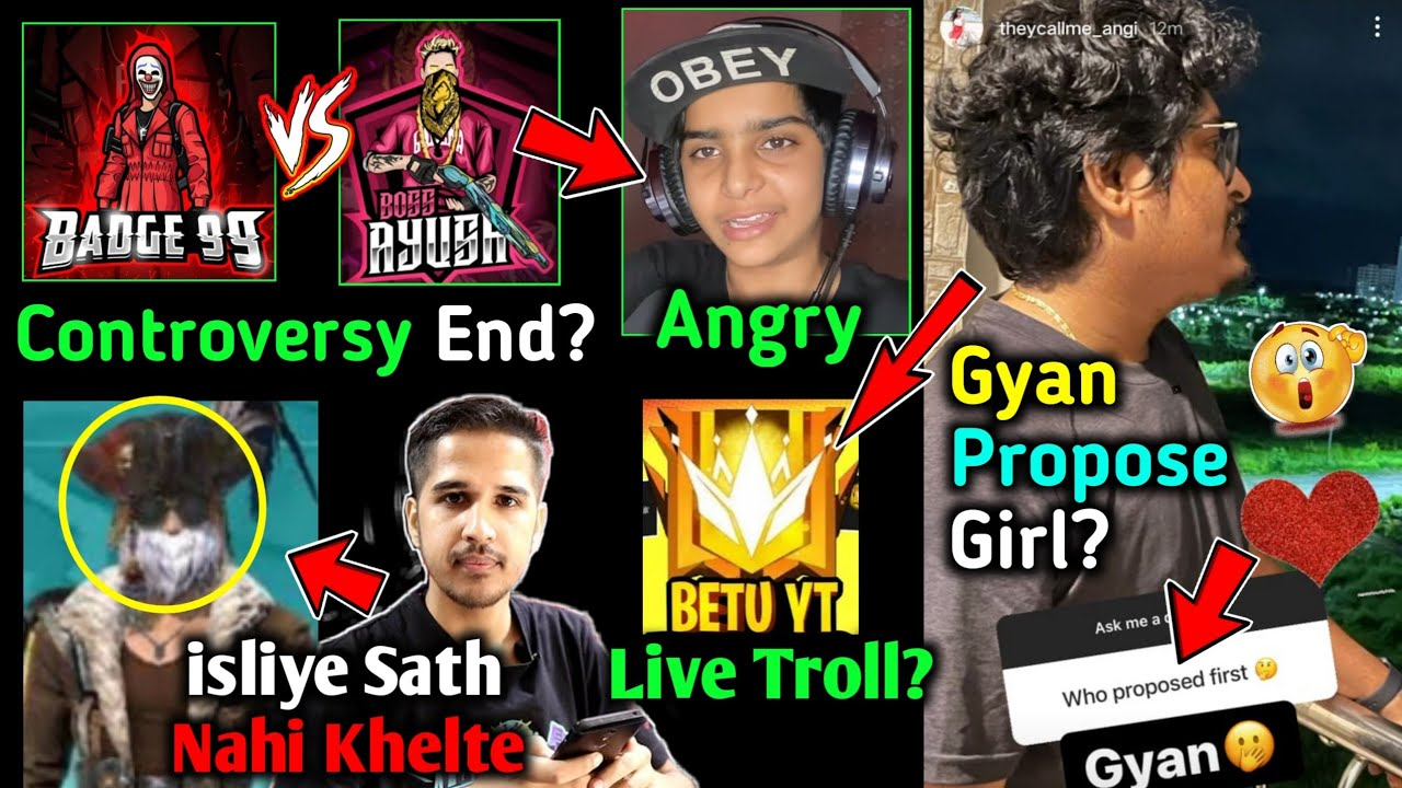 Gyan Gaming Live TROLL Betu YT😳 Badge 99 vs Boss Ayush Matter - Aditech?🤔 Ajjubhai Reply On Amitbhai