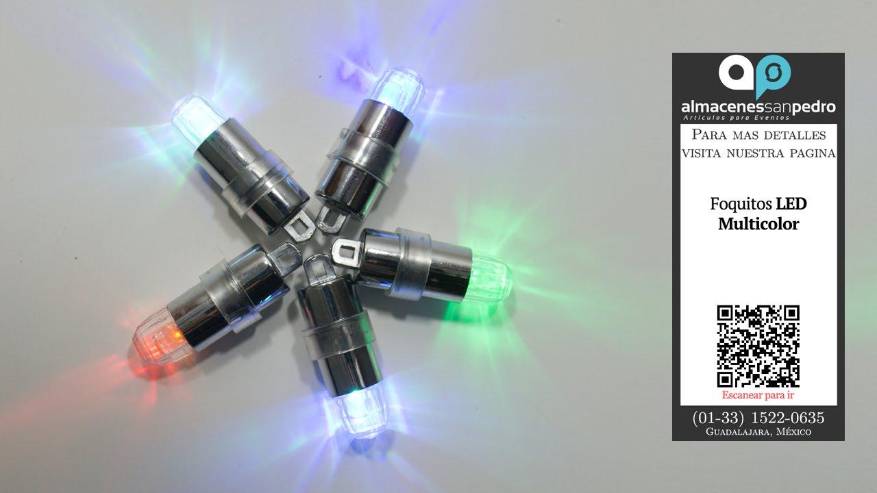 Foquitos led para fiestas con luz de color rgb youtube for Luces led a pilas para armarios
