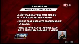 Panamericana: Te roban con autos de alta gama