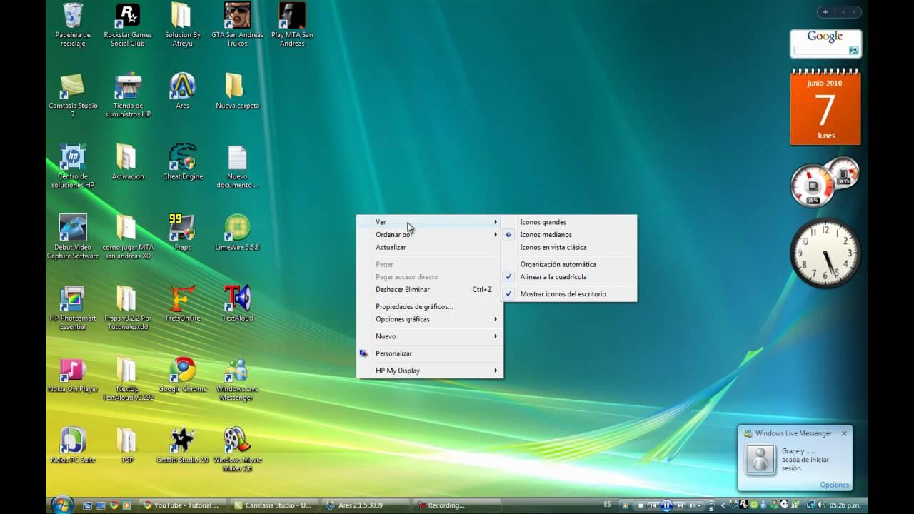 Como hacer los iconos de tu escritorio mas grandes windows - Iconos para escritorio windows ...