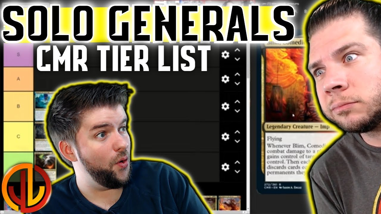 Mtg Tier List Commander Legends Ranking New Solo Edh Generals From Cmr Youtube Anything lower than tier 2 will most likely not see play in a cedh pod. mtg tier list commander legends