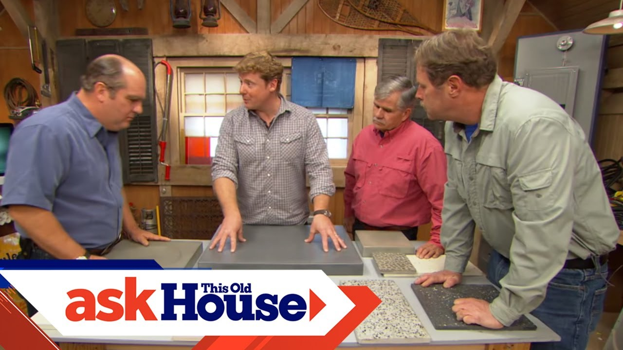 How To Build Custom Concrete Countertops Ask This Old House Youtube