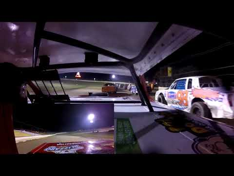 Friday night racing at I-94 Speedway, Fergus Falls, Minnesota. Jeff started his heat race from the inside of the fourth row, finishing fourth. For the feature he rolled ... - dirt track racing video image