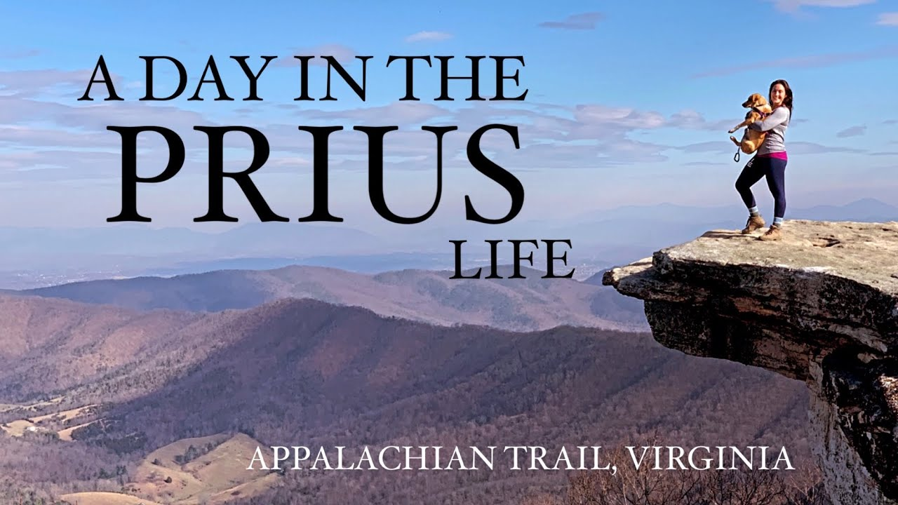 I LIVE in a CAR with a DOG: A typical day living the (Prius)Life, hiking. Appalachian Trail Virginia