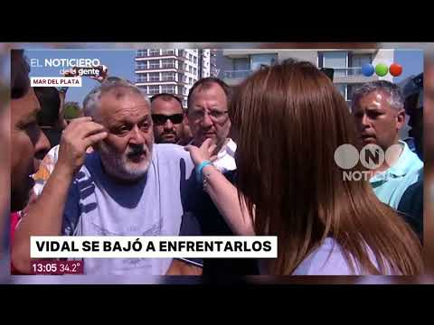 El enfrentamiento de Vidal con los guardavidas en Mar del Plata - El Noticiero de la Gente