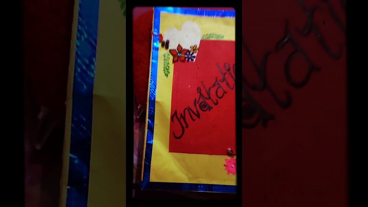 WELCOME PARTY INVITATION CARD || - YouTube