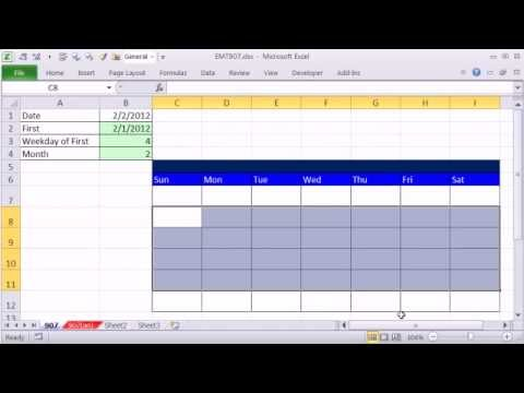 Excel Magic Trick 907 How To Make Excel Calendar (4 Examples) - YouTube