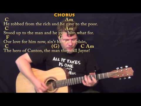 Hero Of Canton (Firefly) Strum Guitar Cover Lesson with Chords/Lyrics