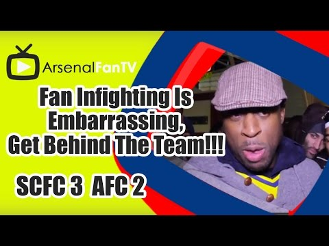 Fan Infighting Is Embarrassing, Get Behind The Team!!! - Stoke City 3 Arsenal 2