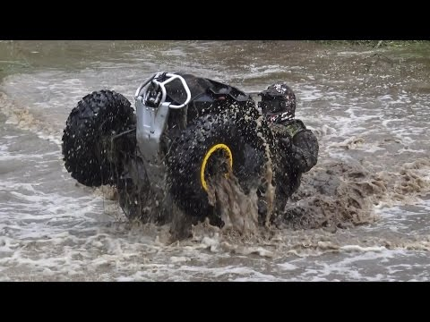 ATVs in Small river cross | Rugaji august 2016