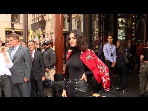 SELENA GOMEZ AND HER FANS CELEBRATE COACH X SELENA COLLECTION IN NEW YORK CITY thumbnail