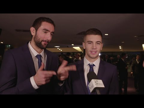 Marin Cilic and Borna Coric at the Official Dinner