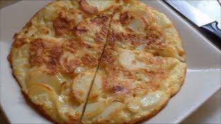 Кулинарный рецепт Завтрак Испанская тортилья Омлет Запеканка
