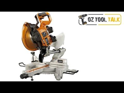 AEG Brushless 254mm Dual 18V Mitre Saw - 10-inch Sliding Compound