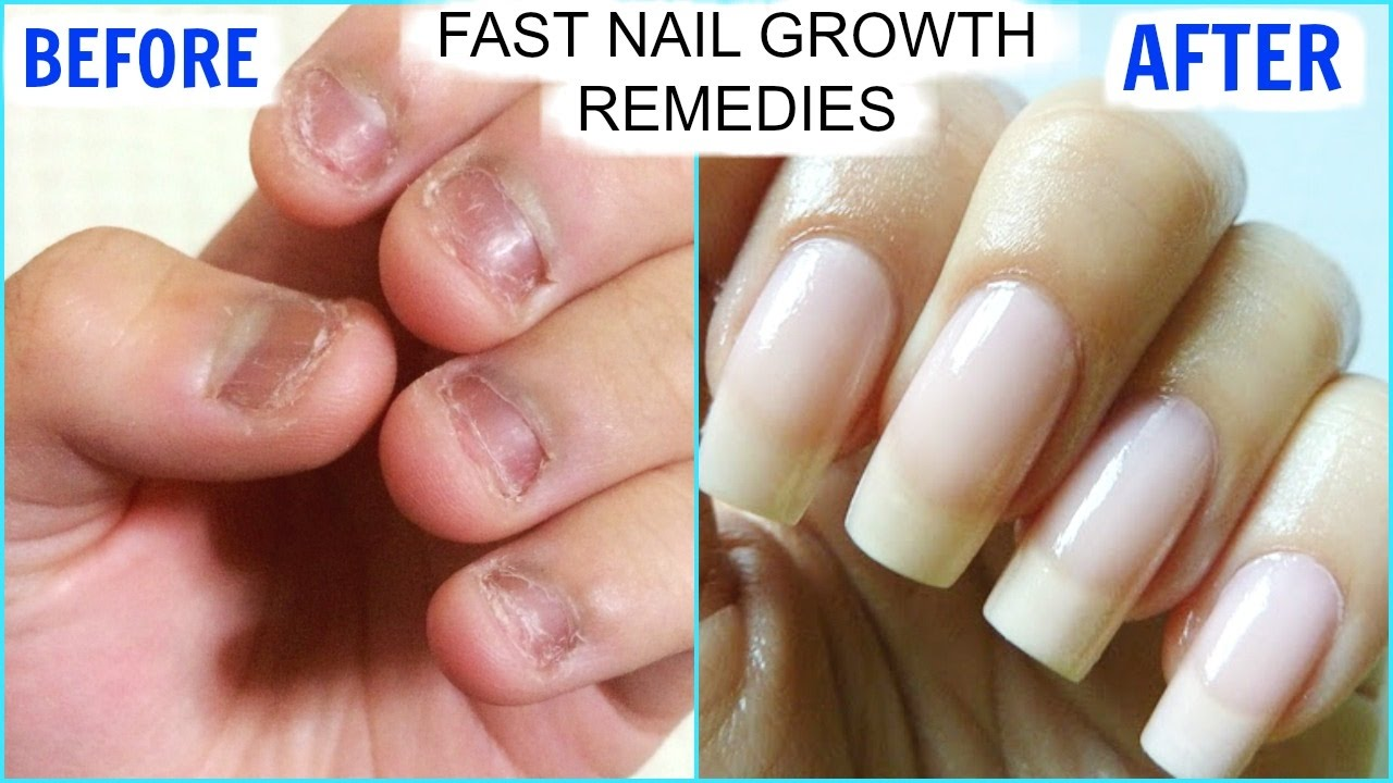 How To GROW Long Strong Nails Fast At Home | SuperPrincessjo - YouTube