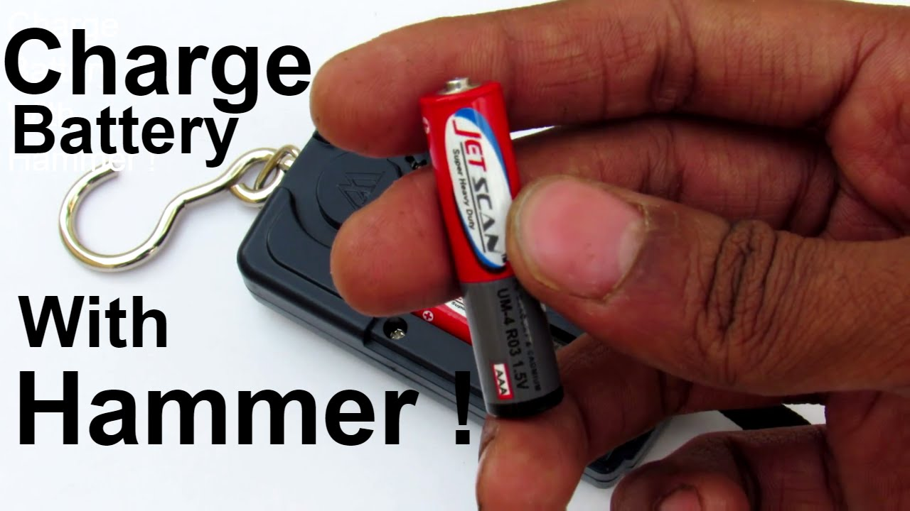 Recharge A Non Rechargeable Battery In 5 Seconds Youtube
