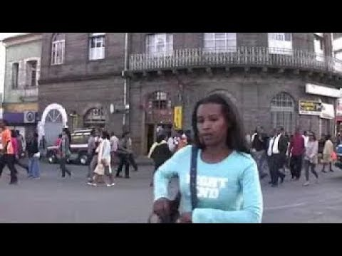 Ethiopia: Addis Ababa [Walk Around] Piassa 1, evening in Jan 2012