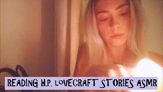 ASMR Reading, Page Turning, Candle Lighting - H.P. Lovecraft