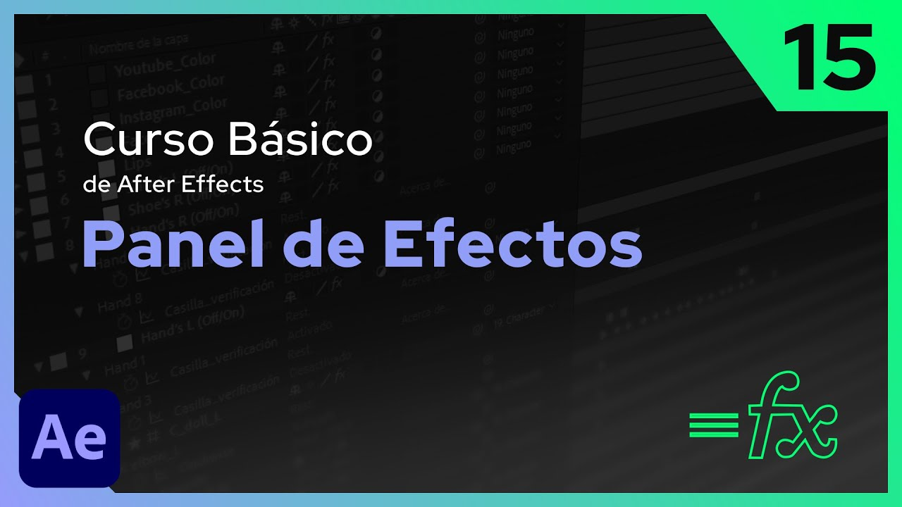 Panel de Efectos | After Effects - Tutorial