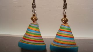 Quilling jhumkas - multicoured